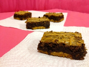 Triple Peanut Butter Brownies