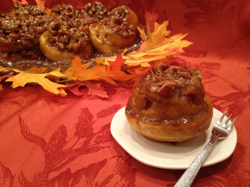 Pumpkin Pecan Sticky Buns