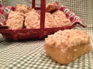 Eggnog Crumb Cake Mini Loaves with a Spiked Glaze