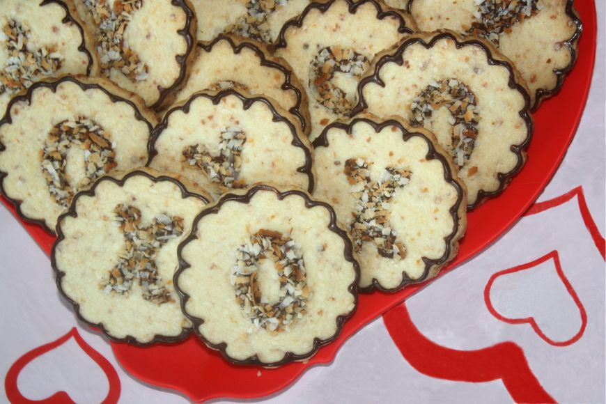 Toasted Coconut XOXO Shortbread Cookies