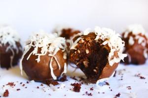 Coconut Chocolate Cake Balls