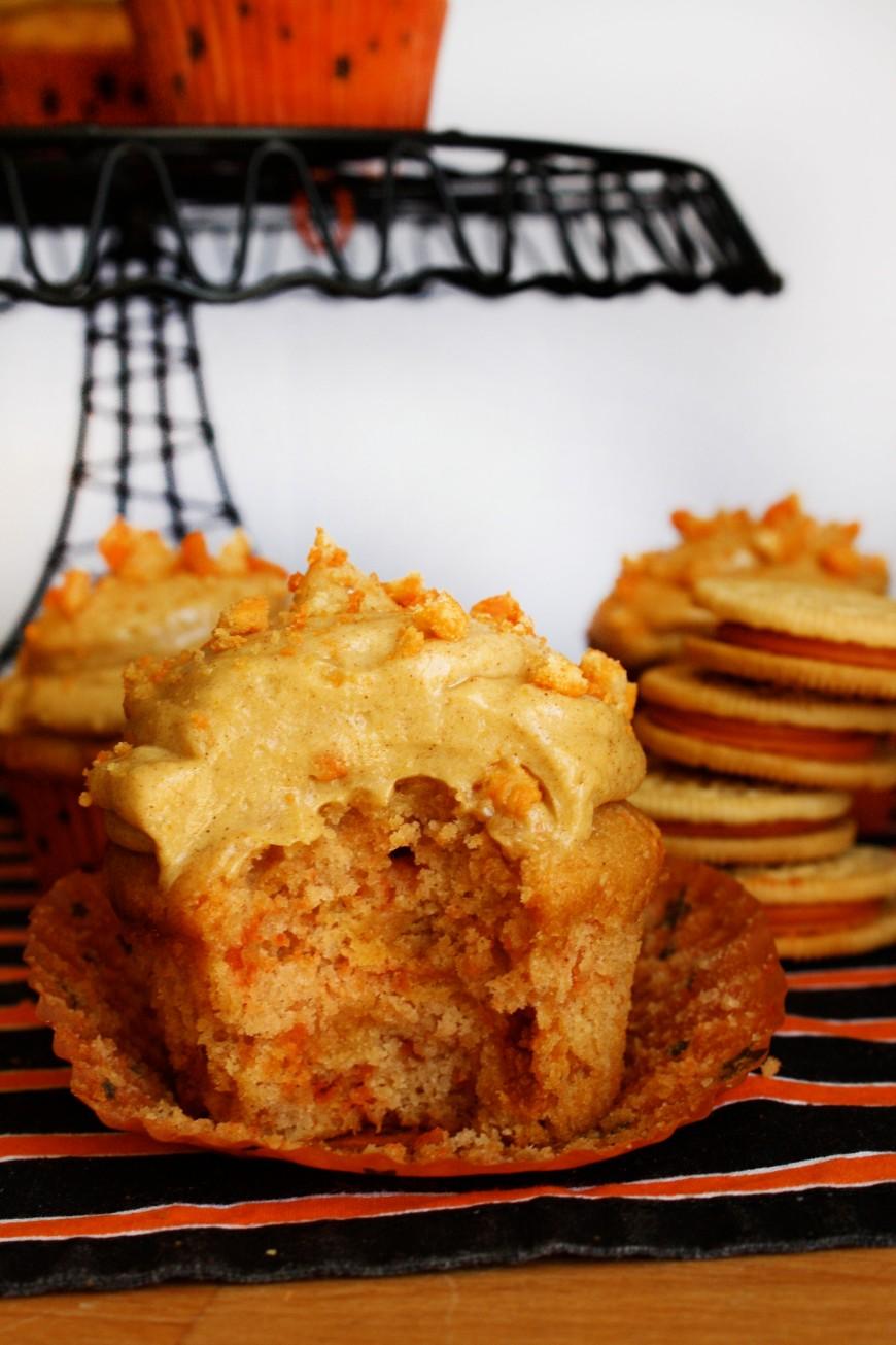 Pumpkin Spice Oreo Cupcakes