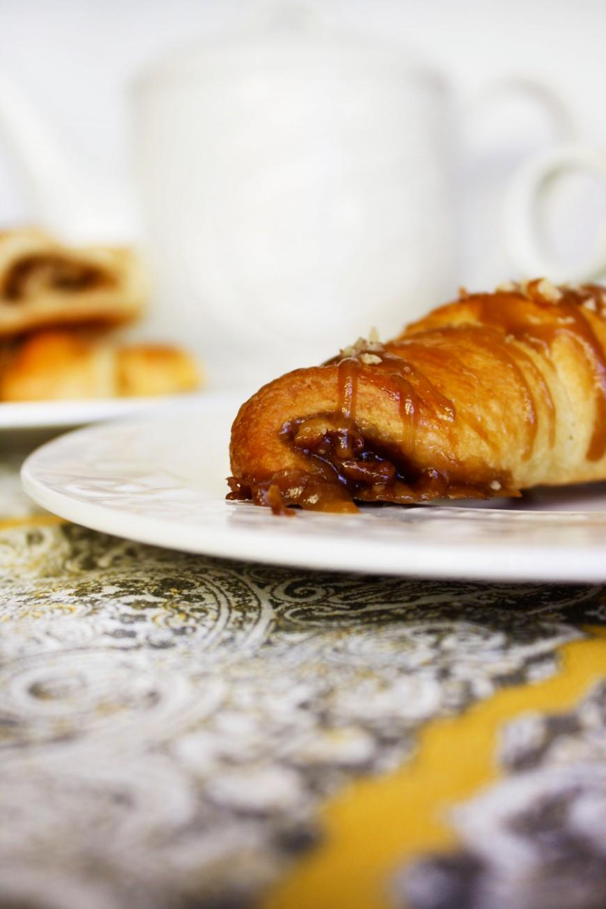 Caramel Pecan Croissants