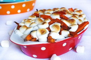 Brown Sugar Sweet Potato Fries with Marshmallows