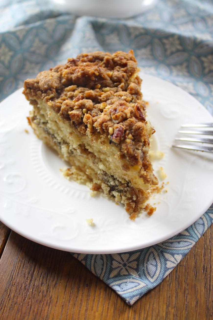 Cinnamon Pecan Streusel Coffee Cake